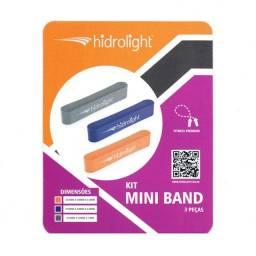 Kit mini band com 3 elásticos hidrolight