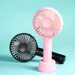 Mini Ventilador De Carro Mesa Maquiagem Portátil Recarregável