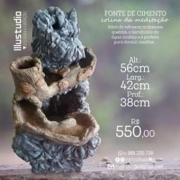 Fonte cascata de concreto - Colina da meditação