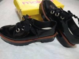 Sapato verniz Moleca número 38