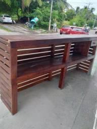 Balcão de madeira 2.53 x 1.14 cm