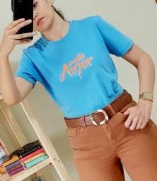 T-Shirt Feminina Com Frase! Muito Amor!