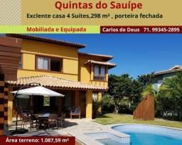 Quintas do Sauípe, casas 4 suítes, 298 m², 5 vagas, porteira fechada, no Destino Sauípe
