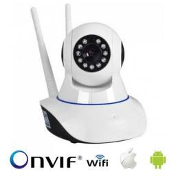 Câmera Ip Wireless HD Visão Noturna - Monitorada via celular