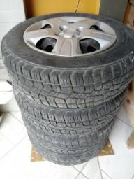 Jogo de aro com pneus R14