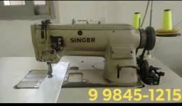 Máquina reta industrial - 02 agulhas Singer (Barra Fixa)