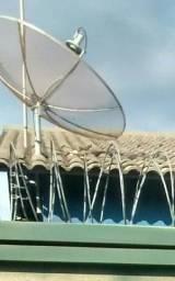 Antena parabólica com receptor