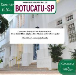 Concurso Prefeitura de Botucatu 2018