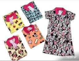 kit 60 lindos vestido gola pólo infantil
