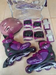 Patins Roller - Kit Completo - Tamanho: 34/37