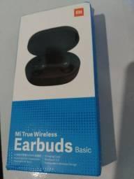 Fone de ouvido Bluetooth Earbuds + Case e Cabo de dados