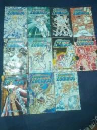 Coleção de mangás, revistas Cavaleiros do Zodíaco