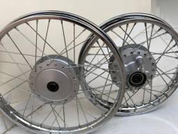 Par de pneus originais Pop 110i 2020