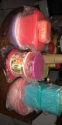 Vendo nove tupperwares novas no plástico