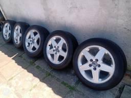 Rodas com pneu meia vida