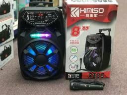 Caixa de som Kimiso Qs ? 2802 amplificadora 2000W r.m.p.o