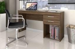 Mesa Office Nogal #Entrega E Montagem Grátis