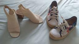Sandália e sapatenis