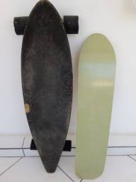Longboard e Prancha de Snowboard (areia)