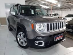 Jeep renegade automática limited 1.8 completo banco de couro único dono garantia fabrica