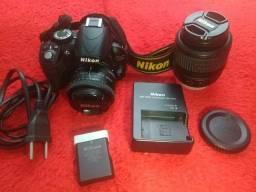 Camera Nikon D3100 + Lente 50mm + Tripé + Case