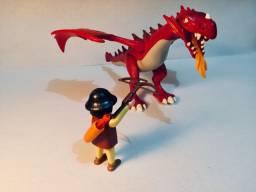 Playmobil Dragão Com Guerreiro