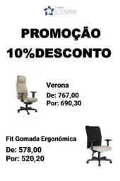 Promoção 10% Desconto Cadeiras