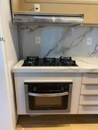 Instalação de cooktop, forno, fogão e medidores.