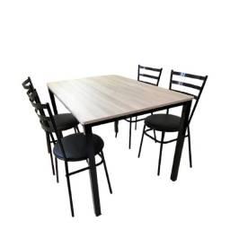 Título do anúncio: mesa para restaurante  , pizzaria, lanchonete  -c/ 4 cadeiras -direto da fabrica