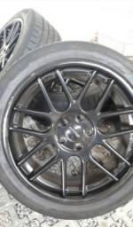 Rodas Giovanna aro 20 com pneus Kumho novos 245/45 r20, 5x120