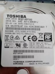 Título do anúncio: HD para notebook Toshiba 500GB