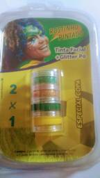 Tinta Facial + Glitter Pó / Especial Copa - Rostinho Pintado R$ 10,00