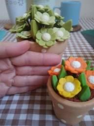 Enfeite cozinha vaso de flores