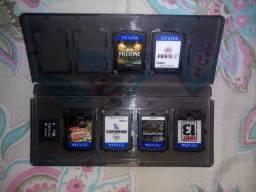 Cartão 16 gb + case original + 6 jogos PS Vita