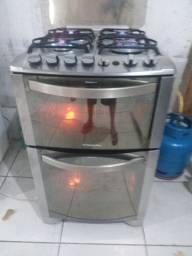 Fogão 2 forno Electrolux usado funcionando vl 550 entrego *