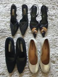 Título do anúncio: Vendo 4 pares de sapatos semi novos