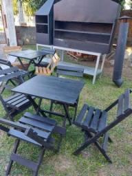 Churrasqueiras e mesas