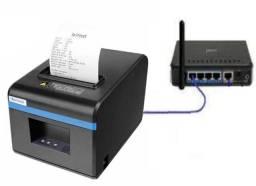 Impressora Térmica 80mm de Cabo Rede com Guilhotina corte automatico - Entrega Grátis