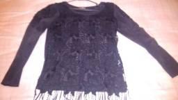 Blusa preta de festa tamanho g