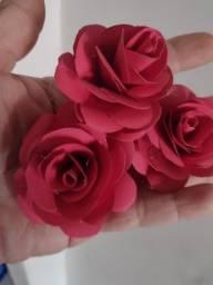Rosas para topo de bolo