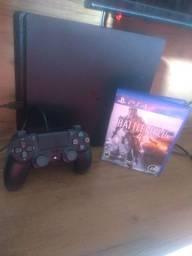PS4 Slim 1 TB 2 controle 1 jogo original
