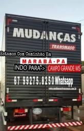 Estou com caminhão em Marabá Pa indo pr GO ou MS. Mudanca