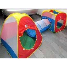 Barraca toca infantil 3 em 1 com tunel