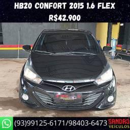Hb20 Confort 1.6 Flex 2015 R$42.900 Sandro Veículos */ *