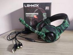 Headset Gamer Lehmox Gt-F15 Com LED