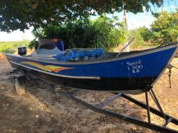 Título do anúncio: Barco novinho 6 metros... motor de 25 -..