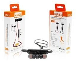 Fone de Ouvido Bluetooth Sports Fitness, Microfone Kaidi Kd901, Headphone com Ímã,
