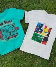 kit com 10 camisetas infantil