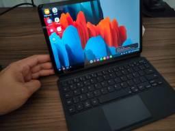 Tab s7 snapdragon 865+ 256gb + teclado com touchpad original