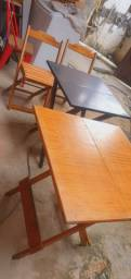 Mesas madeira , mesas plásticas